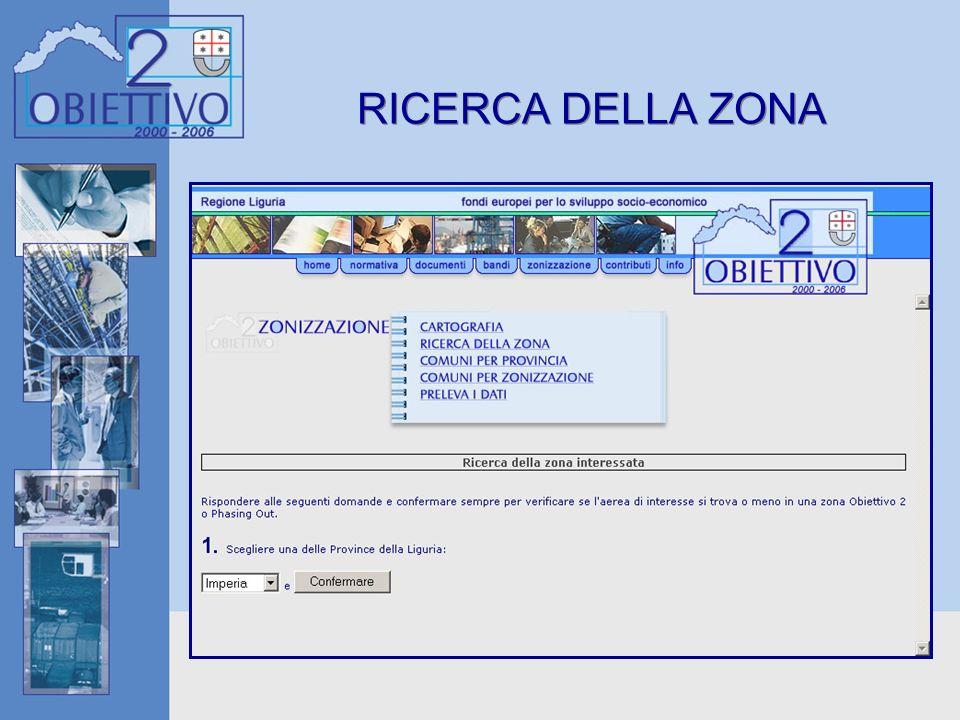 RICERCA DELLA ZONA
