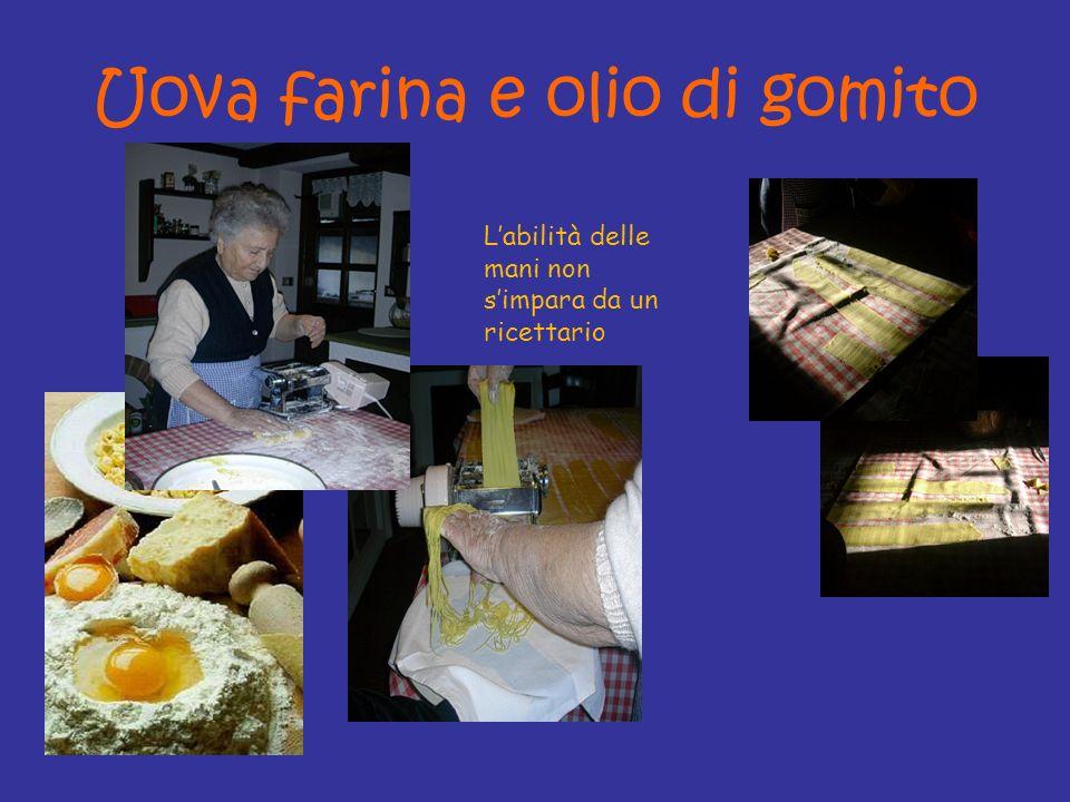 Uova farina e olio di gomito Labilità delle mani non simpara da un ricettario