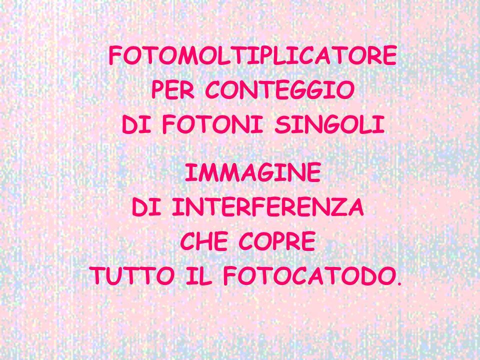 FOTOMOLTIPLICATORE PER CONTEGGIO DI FOTONI SINGOLI IMMAGINE DI INTERFERENZA CHE COPRE TUTTO IL FOTOCATODO.