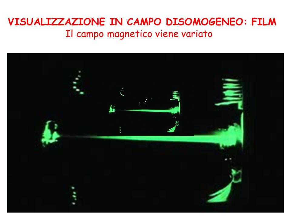 VISUALIZZAZIONE IN CAMPO DISOMOGENEO: FILM Il campo magnetico viene variato