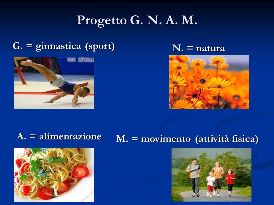 Progetto G.N. A. M. G. = ginnastica (sport) A. = alimentazione M.
