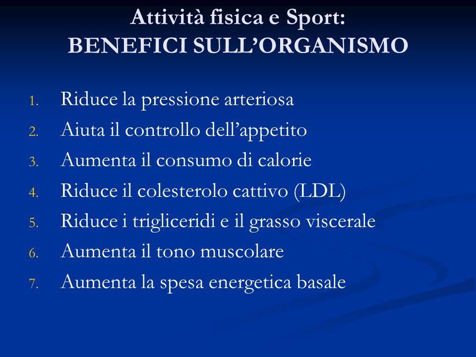 Attività fisica e Sport: BENEFICI SULLORGANISMO 1.