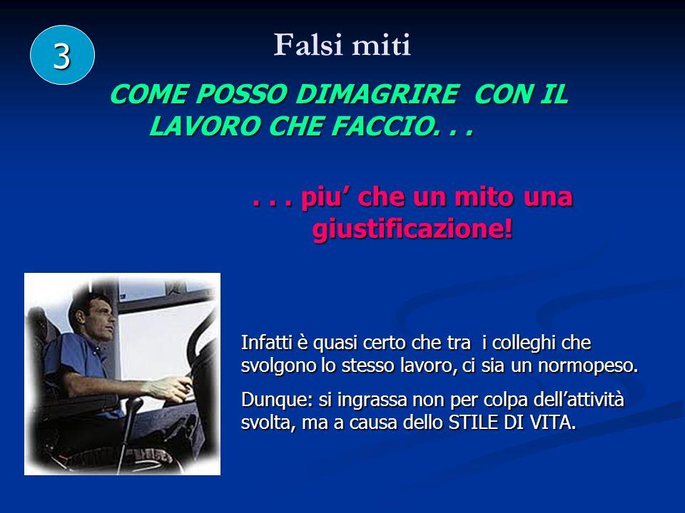Falsi miti 3 COME POSSO DIMAGRIRE CON IL LAVORO CHE FACCIO...