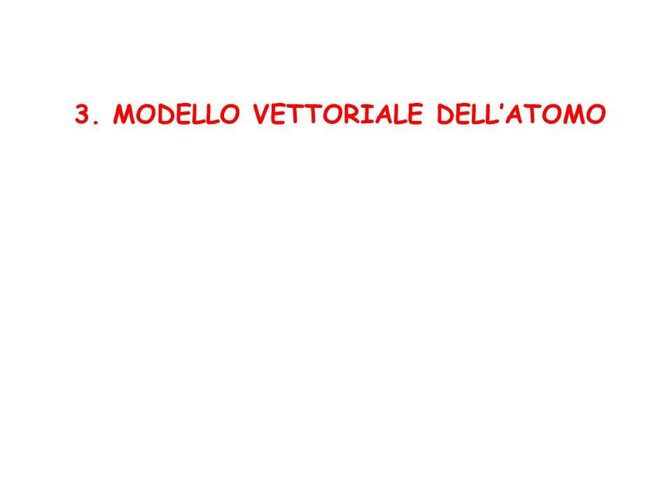 3. MODELLO VETTORIALE DELLATOMO
