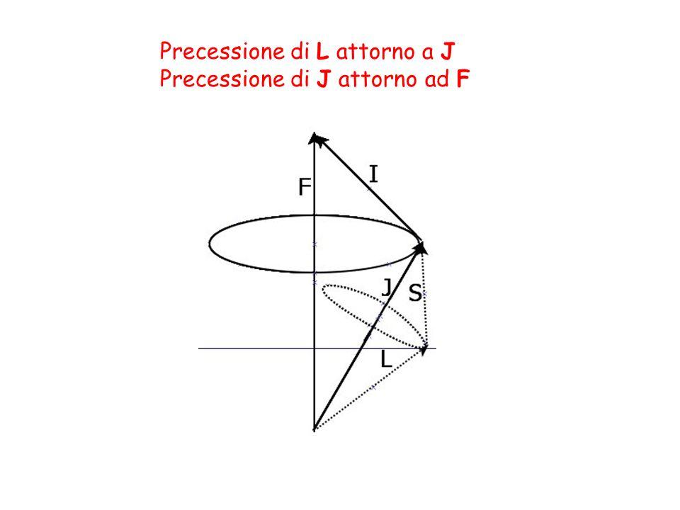 Precessione di L attorno a J Precessione di J attorno ad F
