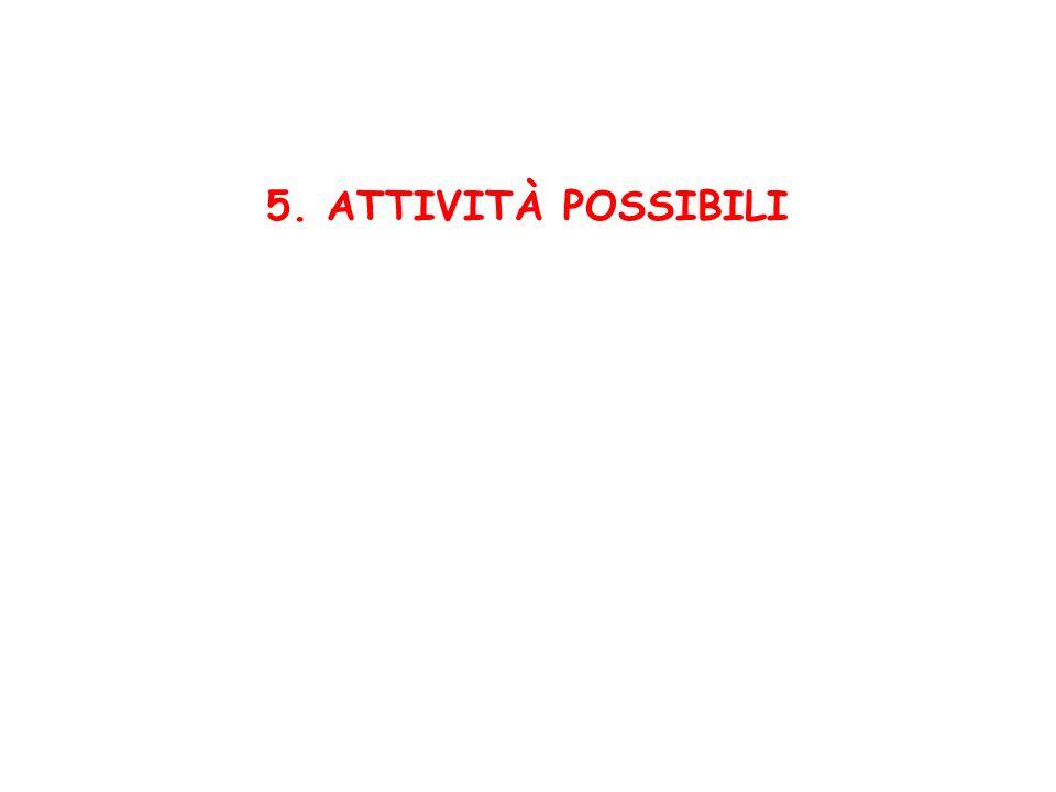 5. ATTIVITÀ POSSIBILI