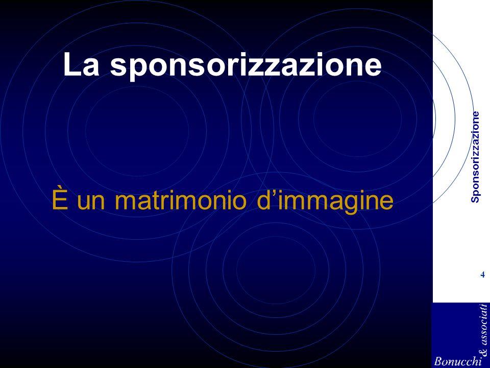 Sponsorizzazione 4 La sponsorizzazione È un matrimonio dimmagine