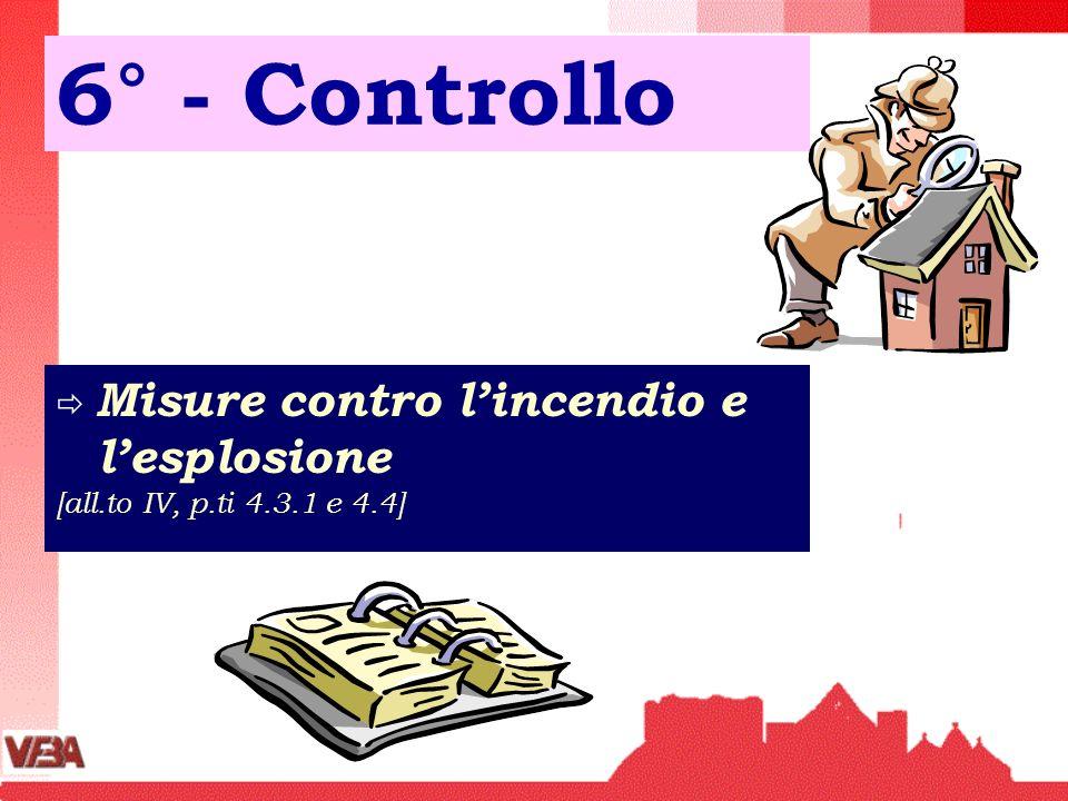 6° - Controllo Misure contro lincendio e lesplosione [all.to IV, p.ti 4.3.1 e 4.4]