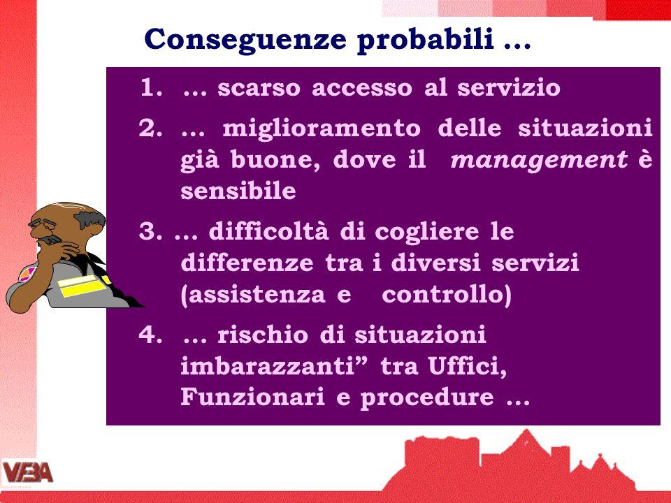 1. … scarso accesso al servizio 2. … miglioramento delle situazioni già buone, dove il management è sensibile 3. … difficoltà di cogliere le differenz