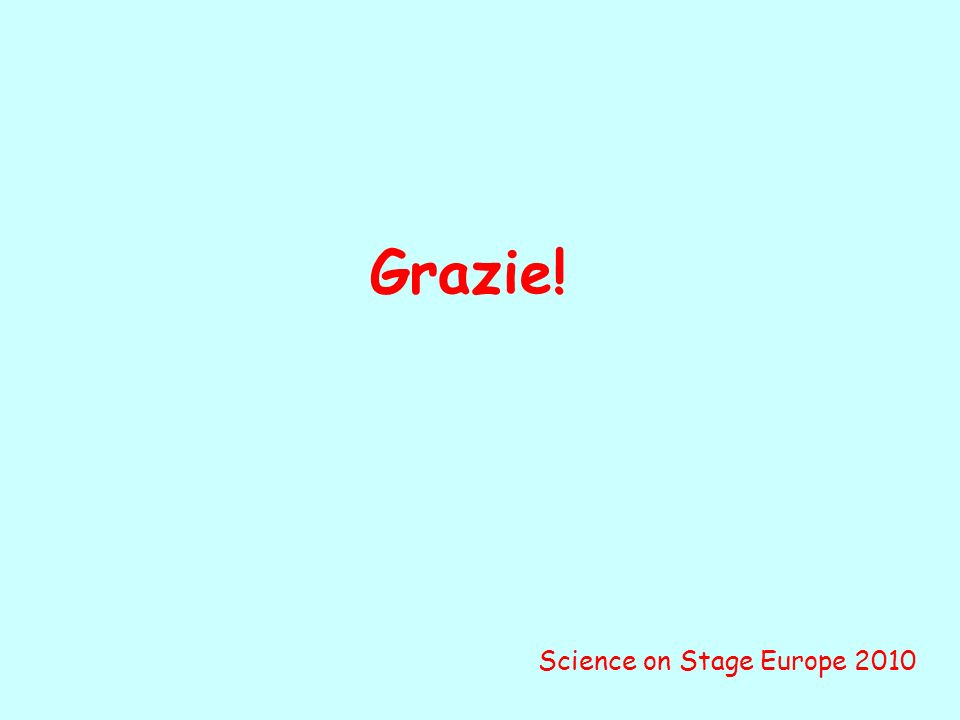 Grazie! Science on Stage Europe 2010