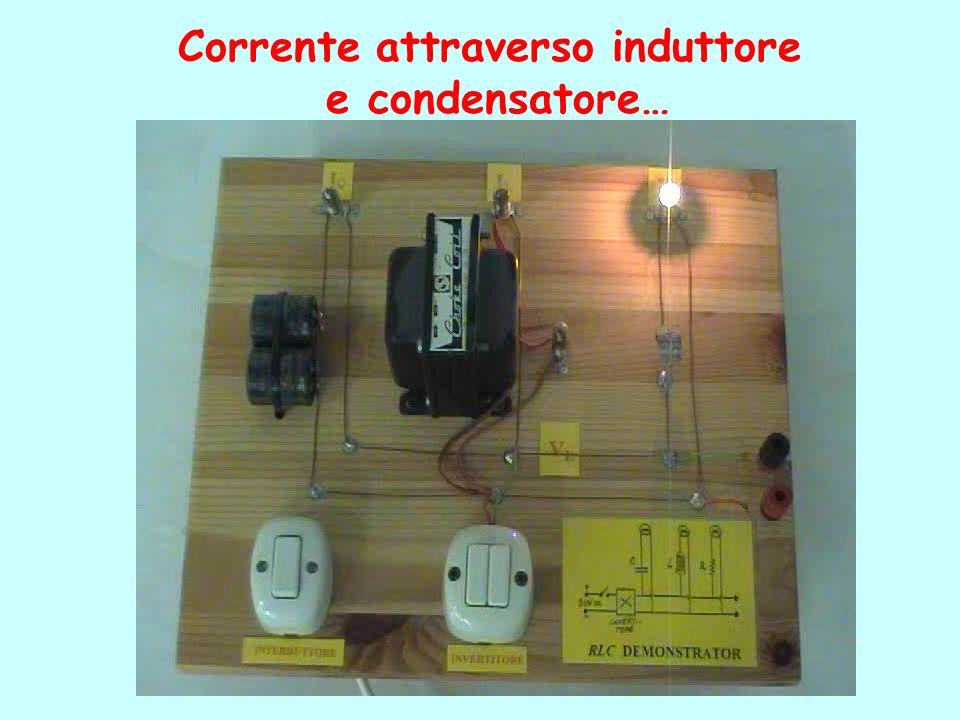 Corrente attraverso induttore e condensatore…