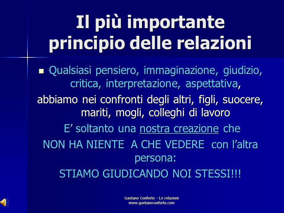 Gaetano Conforto - Le relazioni www.gaetanoconforto.com CREAZIONE Losservatore crea la realtà: prima dellosservazione qualsiasi entità materiale è sol
