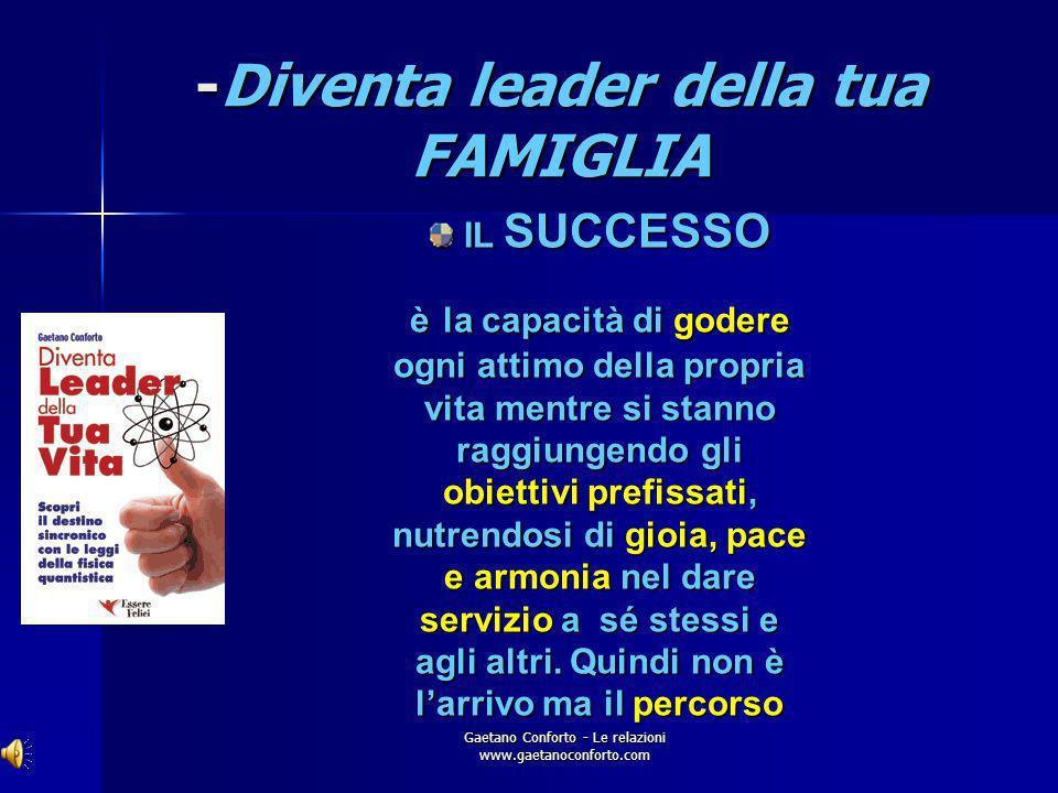 Gaetano Conforto - Le relazioni www.gaetanoconforto.com Diventa leader della tua FAMIGLIA ISTRUZIONE SCOLASTICA: ISTRUZIONE SCOLASTICA: EMISFERO SINIS