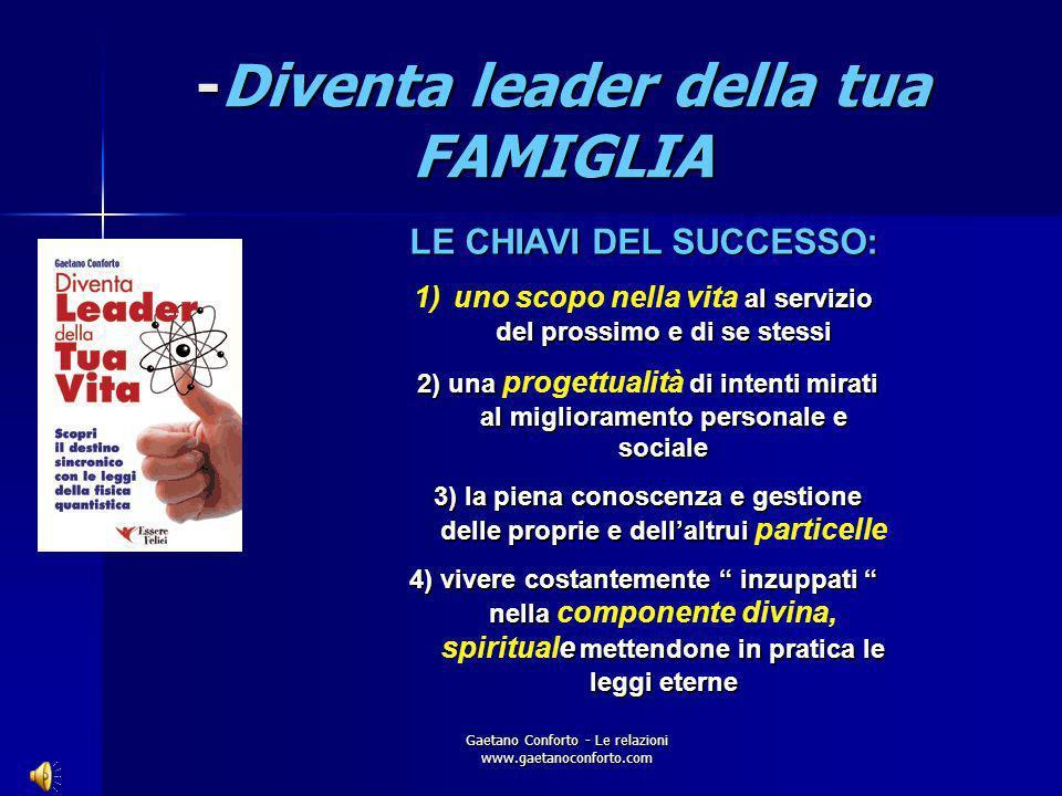 Gaetano Conforto - Le relazioni www.gaetanoconforto.com -Diventa leader della tua FAMIGLIA INSUCCESSO: incapacità nella gestione delle proprie emozion