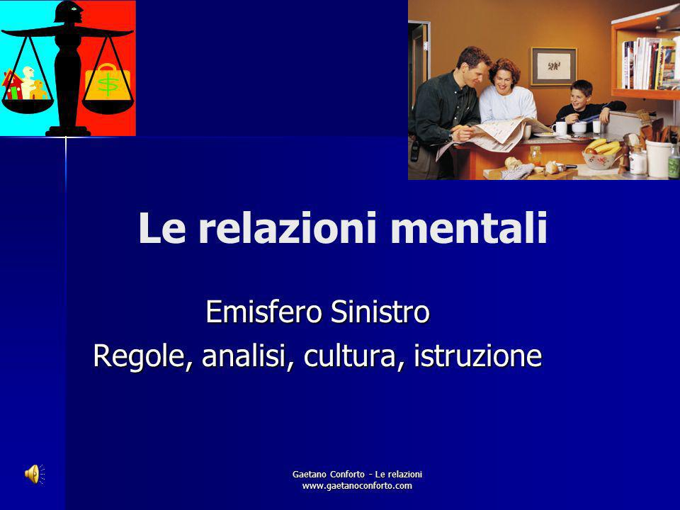 Gaetano Conforto - Le relazioni www.gaetanoconforto.com Le relazioni - Mentali - Spirituali