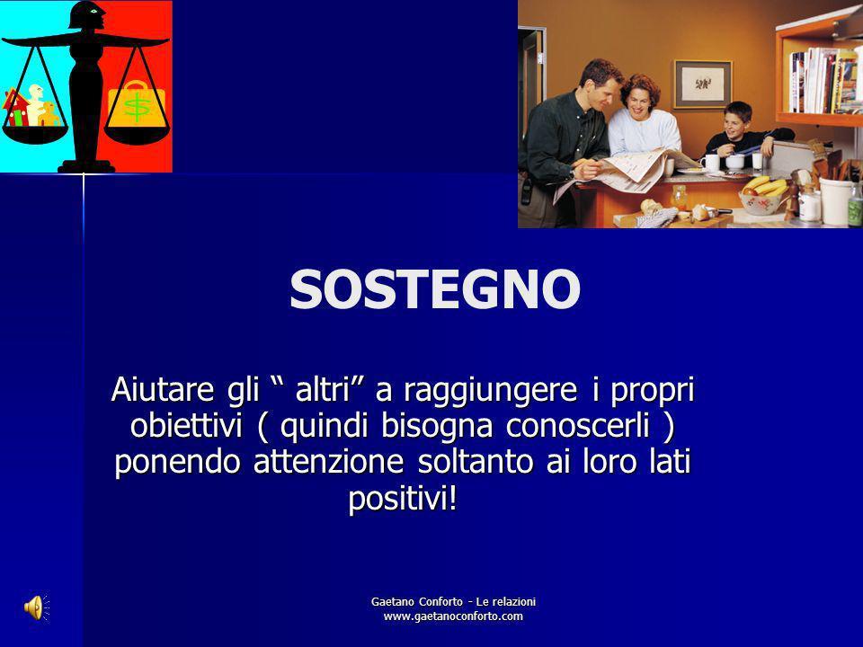 Gaetano Conforto - Le relazioni www.gaetanoconforto.com Cosè lo Spirito ? Genitore – marito- compagno: Scopo nella vita- Missione- Figli – mogli- comp