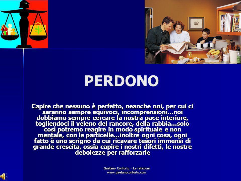 Gaetano Conforto - Le relazioni www.gaetanoconforto.com SOSTEGNO Aiutare gli altri a raggiungere i propri obiettivi ( quindi bisogna conoscerli ) pone
