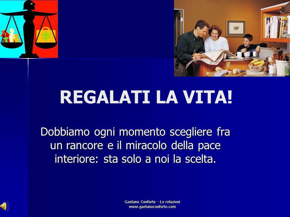 Gaetano Conforto - Le relazioni www.gaetanoconforto.com PERDONO Capire che nessuno è perfetto, neanche noi, per cui ci saranno sempre equivoci, incomp