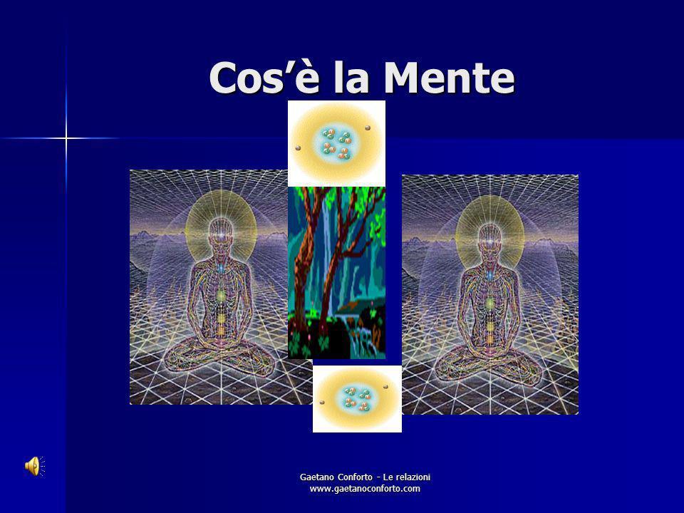 Gaetano Conforto - Le relazioni www.gaetanoconforto.com Cosè la mente?