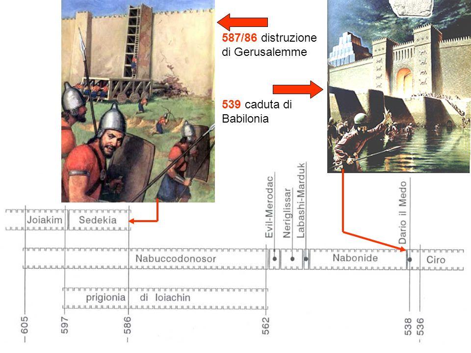 587/86 distruzione di Gerusalemme 539 caduta di Babilonia