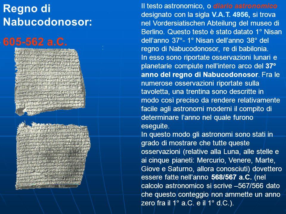 Il testo astronomico, o diario astronomico designato con la sigla V.A.T. 4956, si trova nel Vordersiatischen Abteilung del museo di Berlino. Questo te