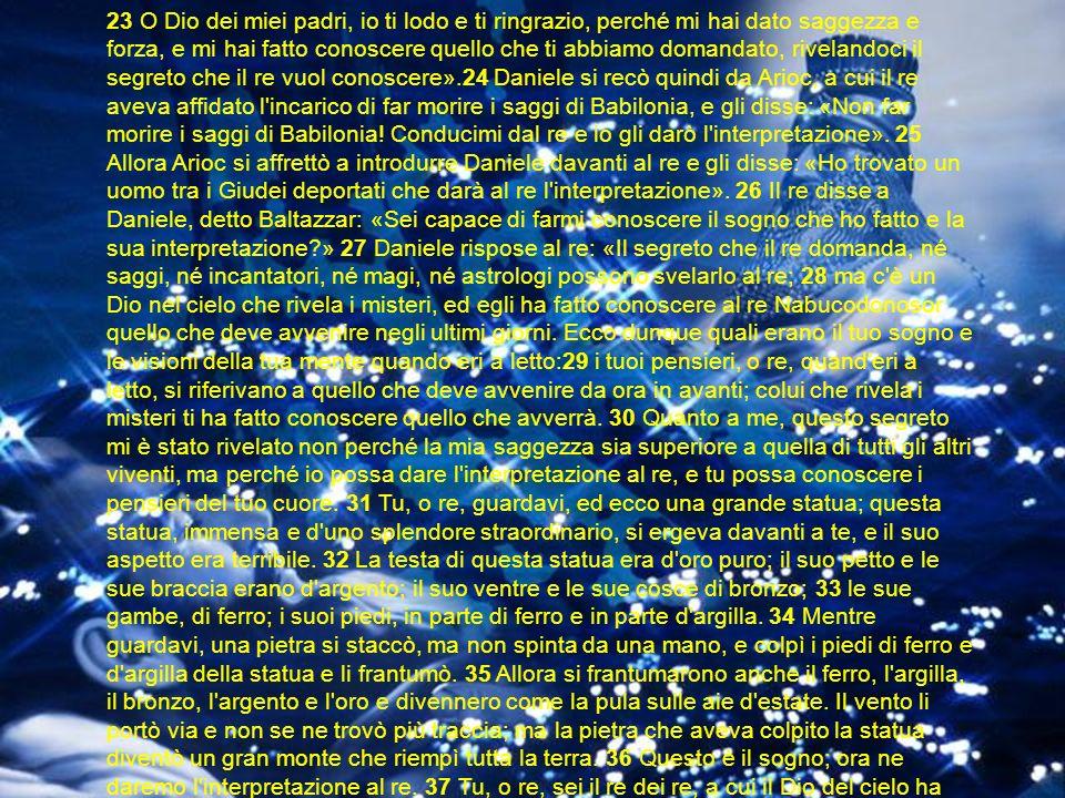 Daniele 5:1 Il re Baldassar fece un grande banchetto per mille dei suoi grandi e bevve vino in loro presenza.
