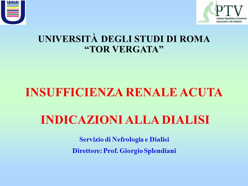 Due tipi di Sindromi osservate in ICU possono condurre il paziente ad IRA: MODS (Multiple Organ Dysfunction Sindrome) SIRS (Systemic Inflammatory Response Syndrome).