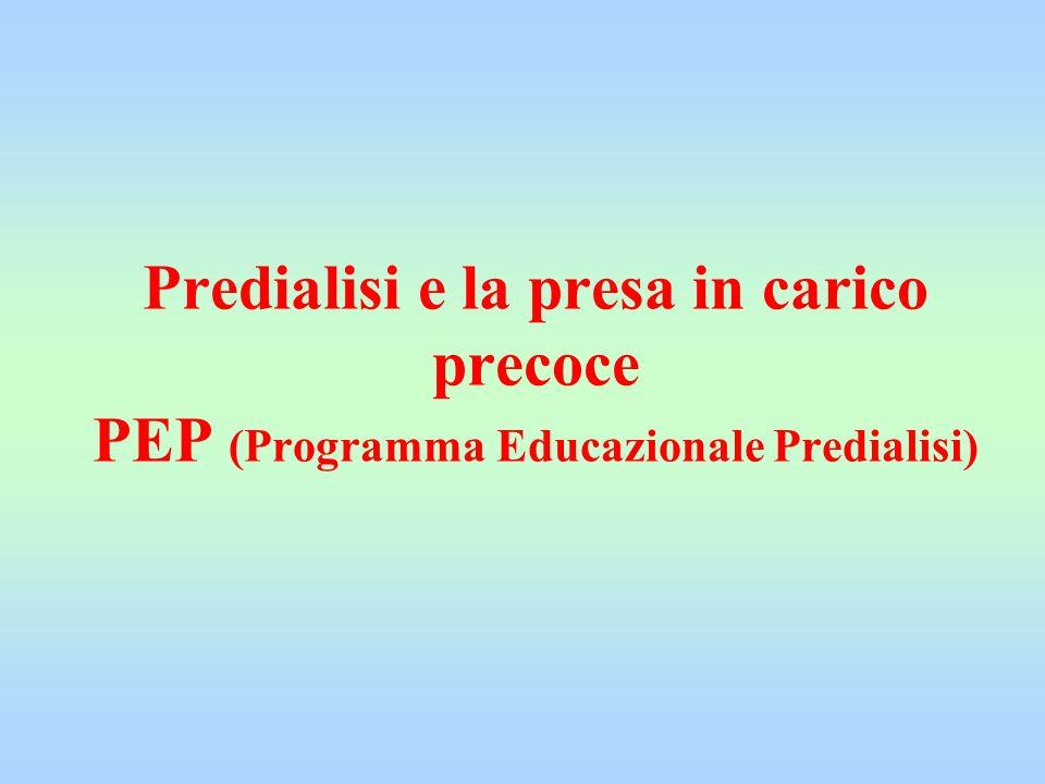 Predialisi e la presa in carico precoce PEP (Programma Educazionale Predialisi)
