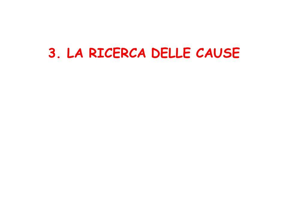 3. LA RICERCA DELLE CAUSE