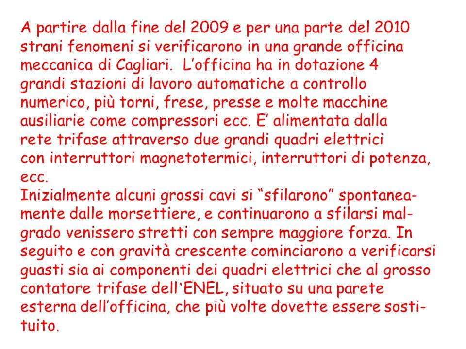 A partire dalla fine del 2009 e per una parte del 2010 strani fenomeni si verificarono in una grande officina meccanica di Cagliari. Lofficina ha in d