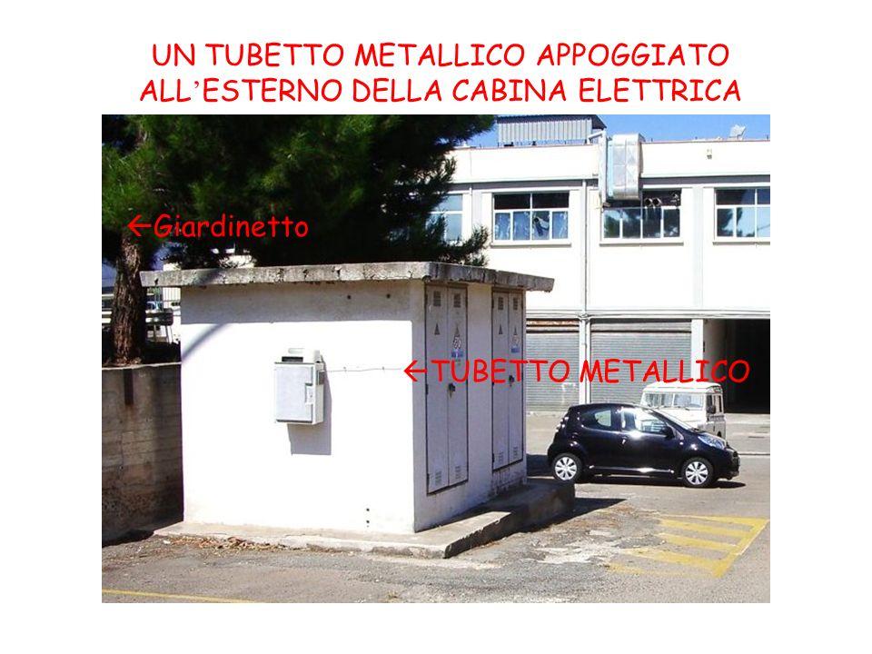 TUBETTO METALLICO Giardinetto UN TUBETTO METALLICO APPOGGIATO ALL ESTERNO DELLA CABINA ELETTRICA