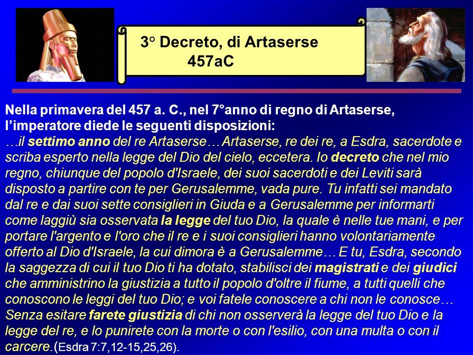 16 Nella primavera del 457 a. C., nel 7°anno di regno di Artaserse, limperatore diede le seguenti disposizioni: …il settimo anno del re Artaserse… Art