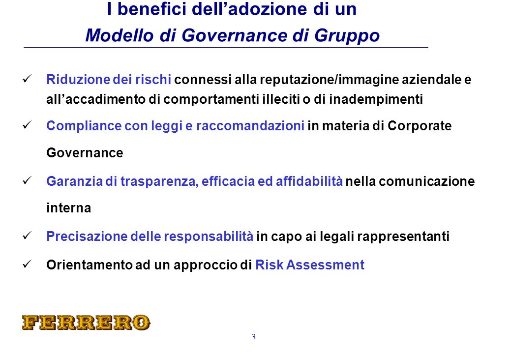 Internal Audit Audit Committees Business Risk Management 14 Progetto Corporate Governance Sistema di Controllo Interno Strutture/Funzioni :