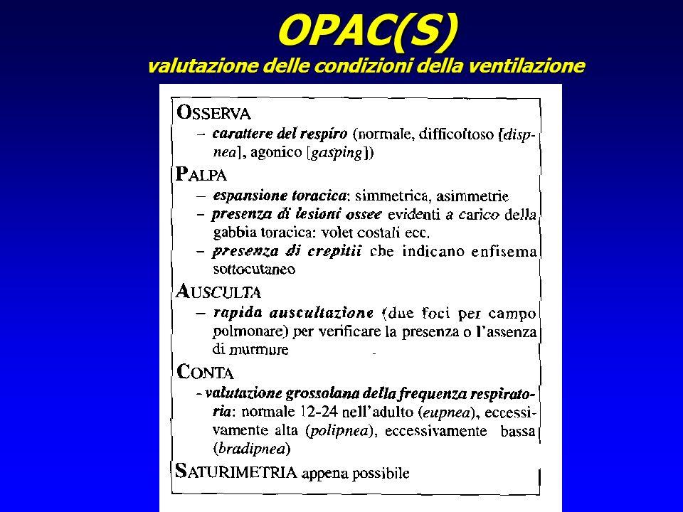 OPAC(S) valutazione delle condizioni della ventilazione