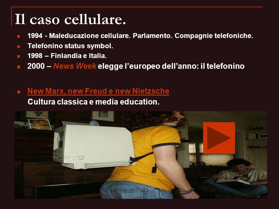 Il caso cellulare. 1994 - Maleducazione cellulare. Parlamento. Compagnie telefoniche. Telefonino status symbol. 1998 – Finlandia e Italia. 2000 – News