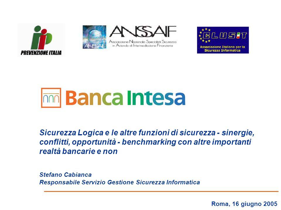 2 Agenda Levoluzione della Sicurezza allinterno del Gruppo Intesa Il modello di governo della Sicurezza integrata Le prossime sfide in Banca Intesa Considerazioni finali