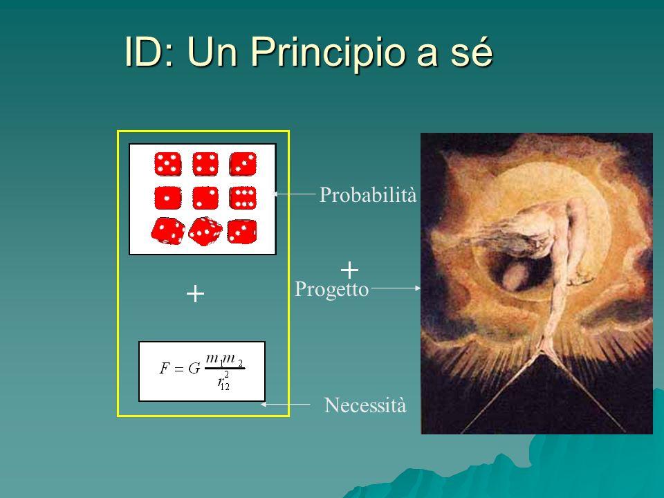 ID: Un Principio a sé Probabilità Necessità Progetto
