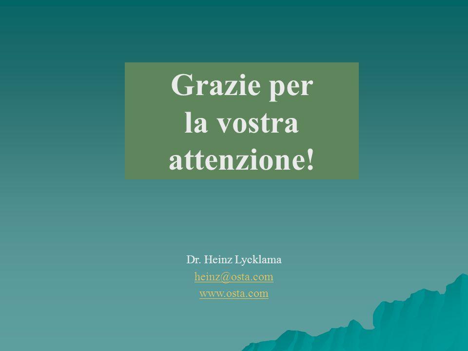 Grazie per la vostra attenzione! Dr. Heinz Lycklama heinz@osta.com www.osta.com