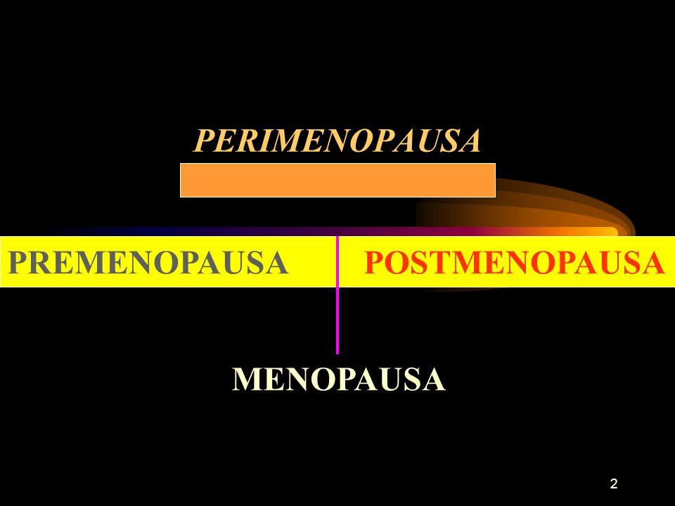 2 PERIMENOPAUSA PREMENOPAUSA POSTMENOPAUSA MENOPAUSA