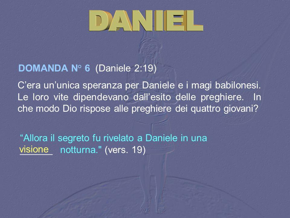 Allora il segreto fu rivelato a Daniele in una ______ notturna.