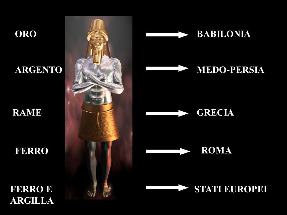 BABILONIA MEDO-PERSIA GRECIA ROMA STATI EUROPEI ORO ARGENTO RAME FERRO E ARGILLA FERRO