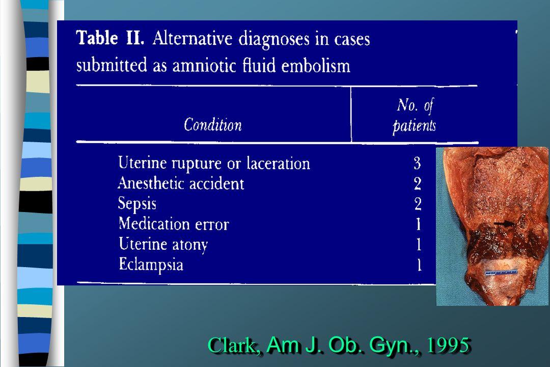 Clark, Am J. Ob. Gyn., 1995