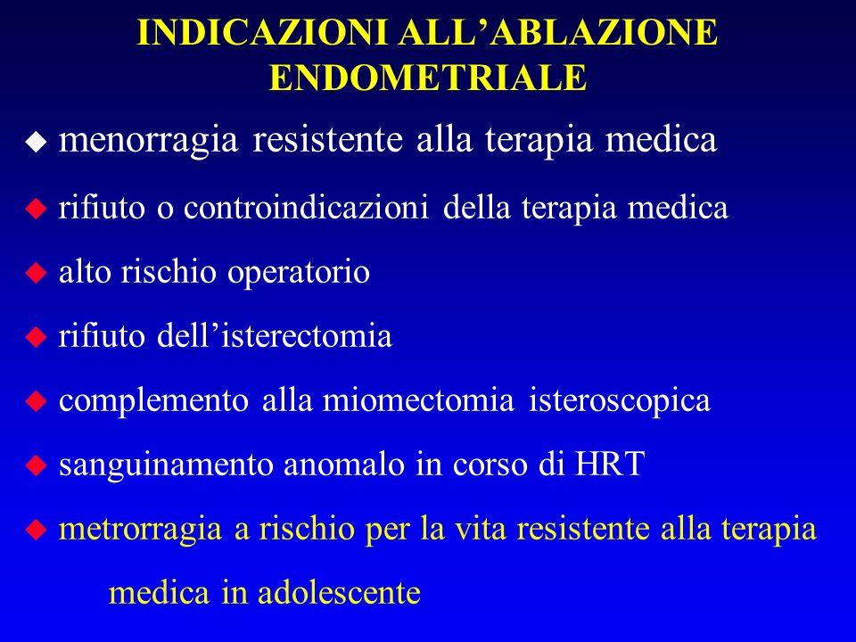 Lobiettivo dellablazione dellendometrio (proposta per la prima volta nel 1937 da Bardenhauer) è quello di distruggere lo strato basale dellendometrio