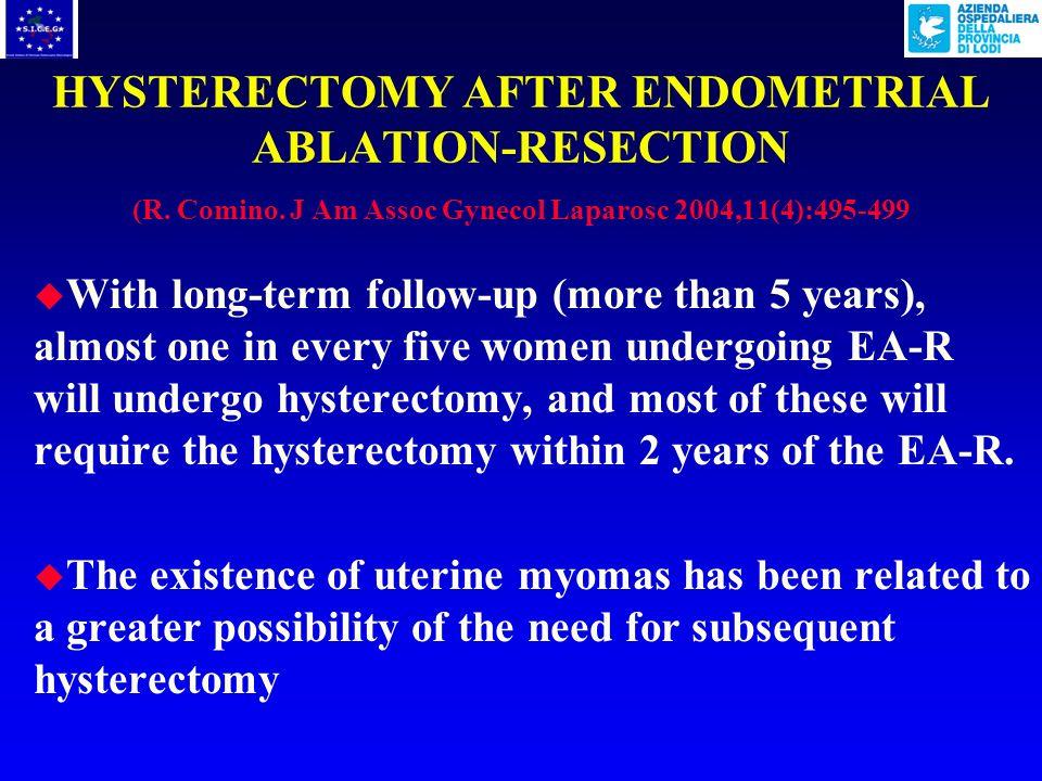 POSTABLATION TUBAL STERILIZATION SYNDROME Nelle pazienti con pregressa occlusione tubarica unostruzione bassa della cavità uterina può portare ad una