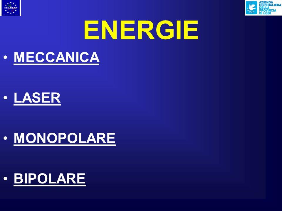 ENERGIE MECCANICA LASER MONOPOLARE BIPOLARE