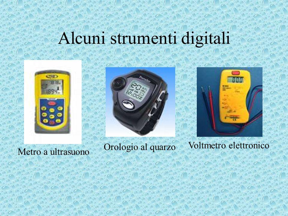 Alcuni strumenti digitali Metro a ultrasuono Orologio al quarzo Voltmetro elettronico