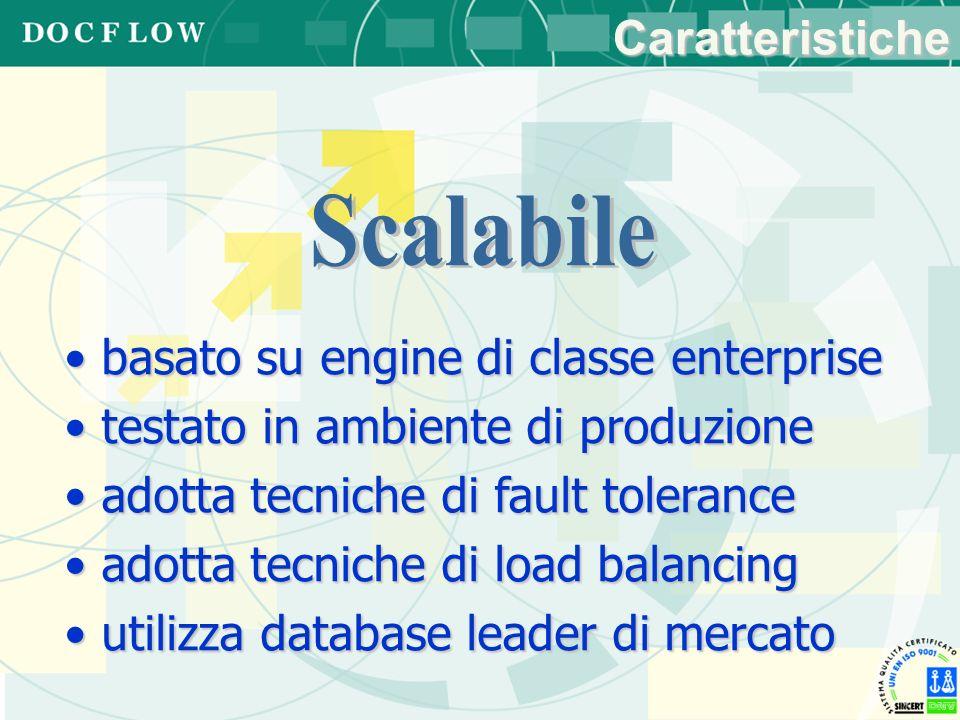 basato su engine di classe enterprise basato su engine di classe enterprise testato in ambiente di produzione testato in ambiente di produzione adotta