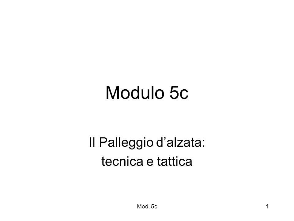 Mod. 5c1 Modulo 5c Il Palleggio dalzata: tecnica e tattica