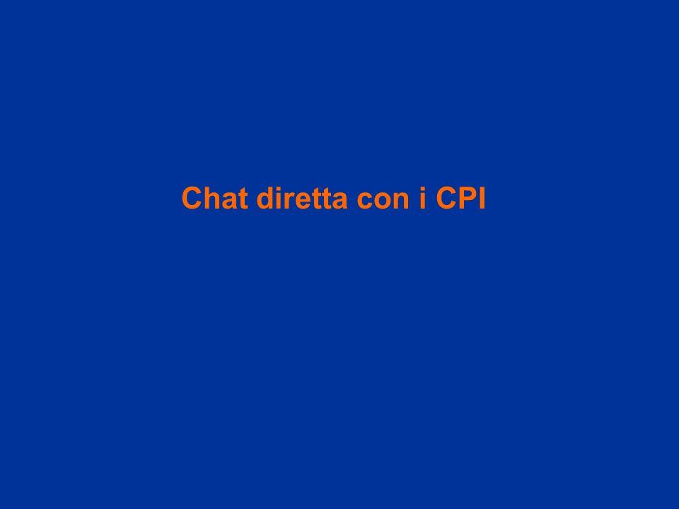 Chat diretta con i CPI