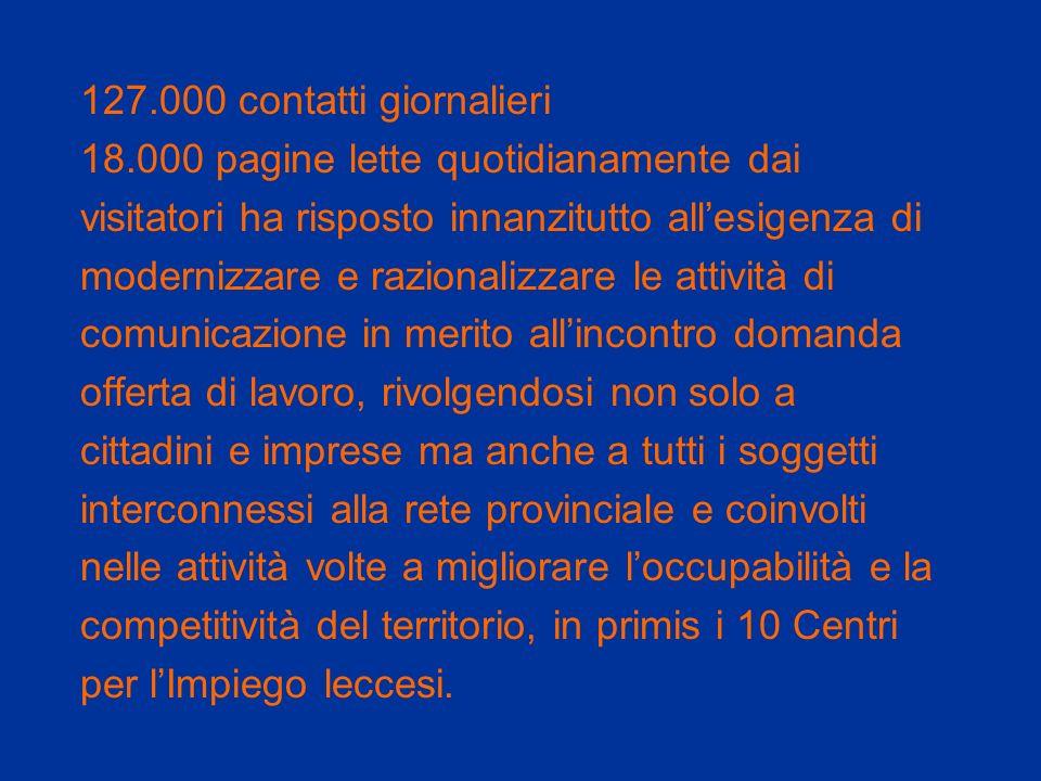 127.000 contatti giornalieri 18.000 pagine lette quotidianamente dai visitatori ha risposto innanzitutto allesigenza di modernizzare e razionalizzare